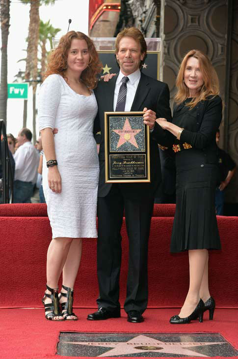 Alexandra Balahoutis , producer Jerry Bruckheimer and Linda Sue Balahoutis Bruckheimer attend Legendary Producer Jerry Bruckheimer Hollywood Walk of Fame Star Ceremony on the Hollywood Walk of Fame on June 24, 2013 in Hollywood, California.  <span class=meta>(Alberto E. Rodriguez &#47; Wireimage &#47; The Walt Disney Company)</span>