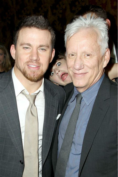 The &#39;Photo-Bombed-By-A-Child-Star&#39; stare: Channing Tatum appears with James Woods and actress Joey King at the after party for the premiere &#39;White House Down&#39; in New York on June 25, 2013. <span class=meta>(Marion Curtis &#47; Startraksphoto.com)</span>