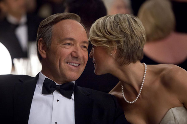 "<div class=""meta ""><span class=""caption-text "">'All of us at 'House of Cards' are honored by the nominations. Almost four years into this journey, and well underway on production for Season Two, it's such a thrill to have the collective efforts of our talented cast, crew, designers, directors and writers recognized by the Television Academy. This dedicated team has made 'House of Cards' by far the most rewarding artistic experience of my career.  I'm particularly happy for Kevin Spacey and Robin Wright - they are the center of our show's universe and make every episode shine. And of course I'm delighted for David Fincher - his brilliance and vision inspire us all.'  - 'House of Cards' producer Beau Willimon on the series receiving nine Primetime Emmy nominations.   (Pictured: Kevin Spacey and Robin Wright appear in a scene from the first season of 'House of Cards' in 2012.) (Netflix)</span></div>"