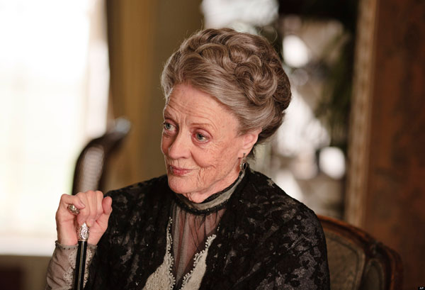 &#39;I am so delighted that the Emmy voters are as fond of Violet as I am.  Thank you so much for nominating us both.&#39;  - Maggie Smith on receiving a Primetime Emmy nomination for Outstanding Supporting Actress In A Drama Series for her role on &#39;Downton Abbey.&#39;  &#40;Pictured: Maggie Smith appears in a 2012 episode of &#39;Downton Abbey.&#39;&#41;  <span class=meta>(PBS)</span>