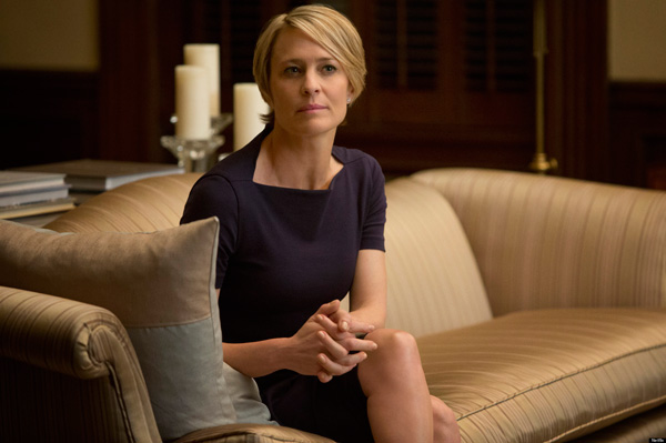 &#39;I&#39;m so proud to be a part of such a ground breaking project as &#39;House of Cards.&#39;  I&#39;m thrilled that our show has been recognized and I want to thank the academy for this great honor. &#39;   - Robin Wright on being receiving a Primetime Emmy nomination for Outstanding Lead Actress in a Drama Series for &#39;House of Cards.   &#40;Pictured: Robin Wright appears in a scene from the first season of &#39;House of Cards&#39; in 2012.&#41; <span class=meta>(Netflix)</span>