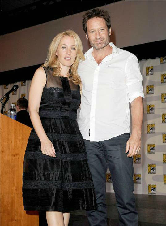Gillian Anderson and David Duchovny at San Diego Comic-Con on July 18, 2013. <span class=meta>(Daniel Robertson&#47;startraksphoto.com)</span>