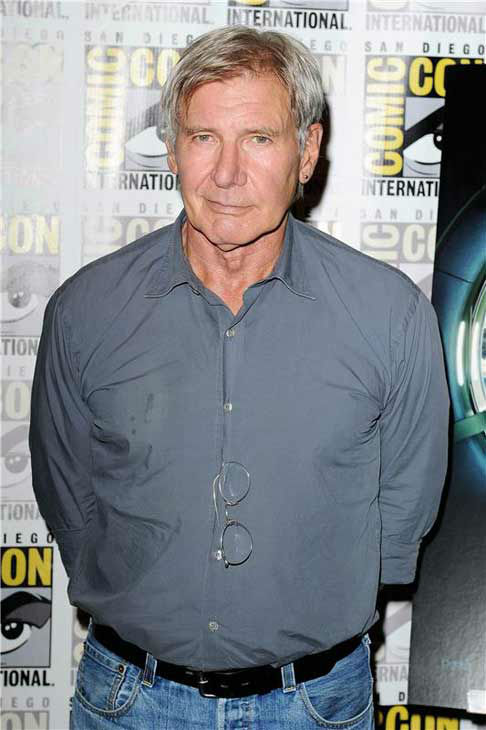 Harrison Ford appears at the &#39;Ender&#39;s Game&#39; panel at San Diego Comic-Con on July 18, 2013. <span class=meta>(Daniel Robertson&#47;startraksphoto.com)</span>