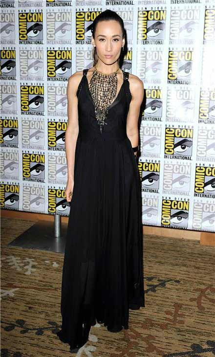 "<div class=""meta image-caption""><div class=""origin-logo origin-image ""><span></span></div><span class=""caption-text"">Maggie Q appears at the 'Divergent' panel at San Diego Comic-Con on July 18, 2013. (Daniel Robertson/startraksphoto.com)</span></div>"