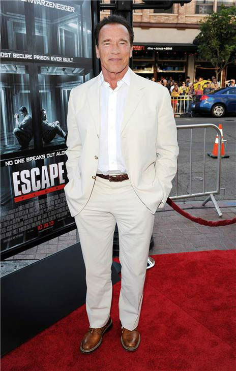 "<div class=""meta image-caption""><div class=""origin-logo origin-image ""><span></span></div><span class=""caption-text"">Arnold Schwarzenegger appears at the screening of 'Escape Plan' at San Diego Comic-Con on July 18, 2013. (Daniel Robertson/startraksphoto.com)</span></div>"