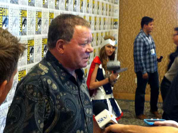 William Shatner appears at San Diego Comic-Con on July 18, 2013. <span class=meta>(OTRC)</span>