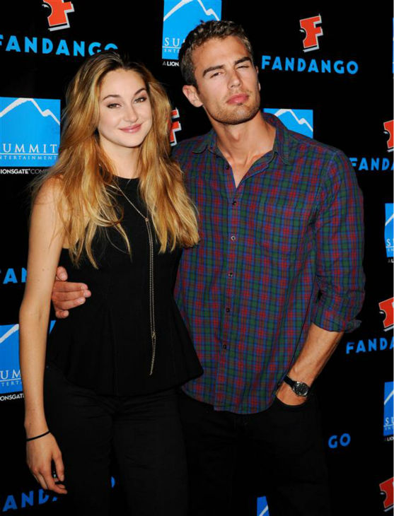 Shailene Woodley &#40;Tris&#41; and Theo James &#40;Four&#41; appear at Summit Entertainment&#39;s VIP party at the Hard Rock Hotel during the 2013 San Diego Comic-Con convention in San Diego, California on July 18, 2013. <span class=meta>(Daniel Robertson &#47; Startraksphoto.com)</span>