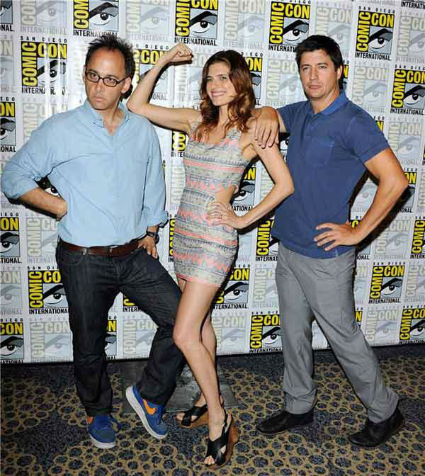 Ken Marino, Lake Bell and Rob Huebel appear at a photocall for &#39;Childrens Hospital&#39; at San Diego Comic-Con on July 19, 2013. <span class=meta>(Daniel Robertson&#47;startraksphoto.com)</span>