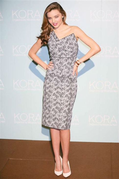 Miranda Kerr appears at a press conference for Kora Organics in Japan on July 22, 2013. <span class=meta>(Motoo Naka&#47;startraksphoto.com)</span>