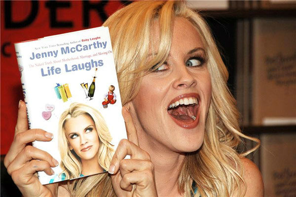 Pictured: Jenny McCarthy promoting her book 'Life Laughs: The Naked Truth about Motherhood, Marriage, and Moving On' at Border's Bookstore in New York, New York on April 26, 2006.