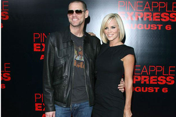Pictured: Jim Carrey and Jenny McCarthy at the 'Pineapple Express' premiere at Mann Village Theater in Westwood, California on July 31, 2008.