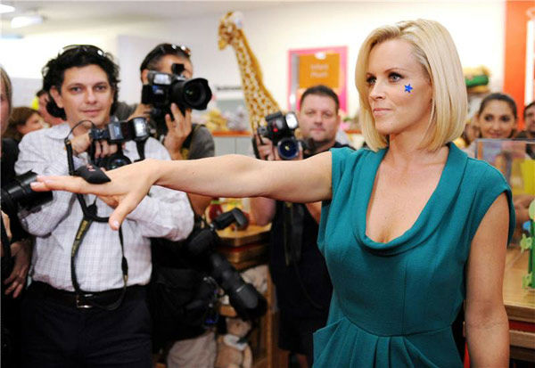 Pictured: Jenny McCarthy at Macy's Kids and Home Store at the Dadeland Mall in Miami, Florida on Sept. 27, 2008.