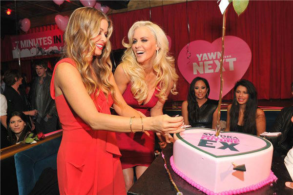 Pictured: Carmen Electra and Jenny McCarthy host SVEDKA Vodka's Anti-Valentine's Day party o