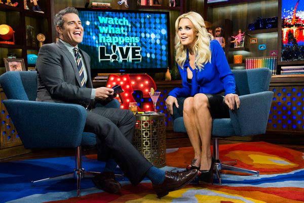 Pictured: Andy Cohen and Jenny McCarthy on 'Watch What Happens Live' Thurs. Feb. 7, 2013.
