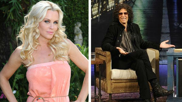 Pictured: Jenny McCarthy at a photo shoot in Beverly Hills, California on April 5, 2012 and Howard Stern at 'Jimmy Kimmel L