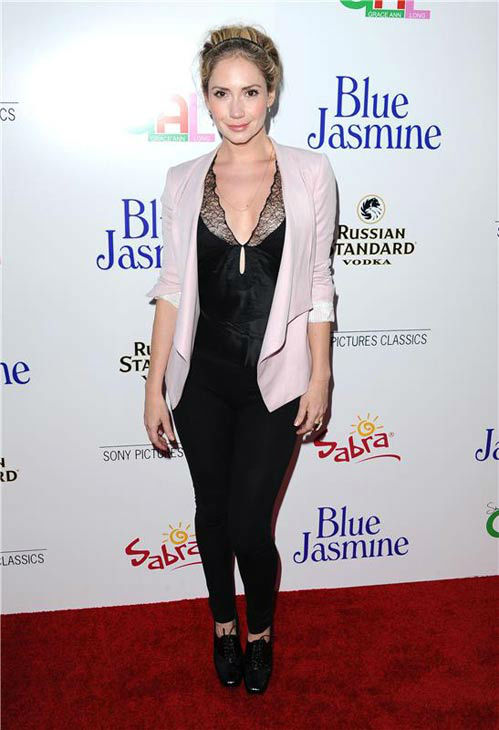 Ashley Jones appears at the Los Angeles premiere of 'Blue Jasmine' on July 24, 2013.