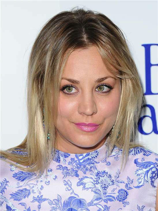 Kaley Cuoco appears at the Los Angeles premiere of 'Blue Jasmine' on July 24, 2013.