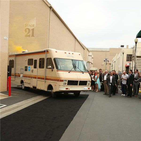 "<div class=""meta image-caption""><div class=""origin-logo origin-image ""><span></span></div><span class=""caption-text"">Walter and Jesse's RV was on full display at the AMC party celebrating the fifth and final season of the hit show 'Breaking Bad.' (Chris Hatcher/startraksphoto.com)</span></div>"
