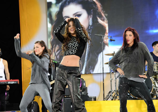 Selena Gomez performs live from New York City&#39;s Central Park on ABC&#39;s &#39;Good Morning America&#39; &#40;&#39;GMA&#39;&#41; on July 26, 2013. <span class=meta>(ABC Photo&#47; Donna Svennevik)</span>