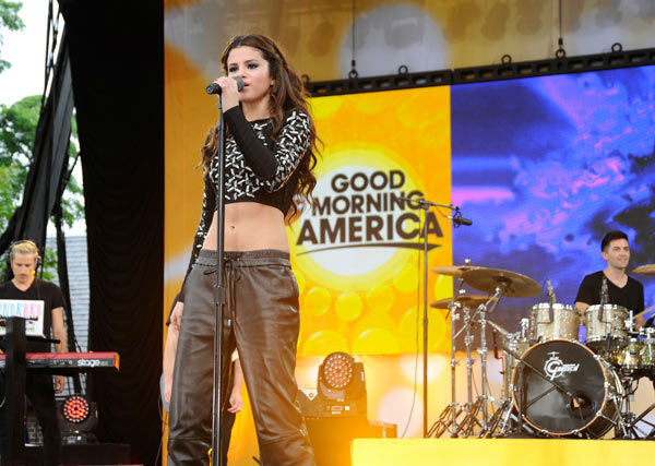 Selena Gomez performs live from New York City&#39;s Central Park on ABC&#39;s &#39;Good Morning America&#39; &#40;&#39;GMA&#39;&#41; on July 26, 2013. <span class=meta>(Photo&#47;Donna Svennevik)</span>