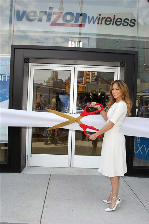 Jennifer Lopez opens first flagship store of Viva Movil by Jennifer Lopez, the new Verizon Wireless premium retailer founded by Lopez, in Brooklyn, New York on July 26, 2013.