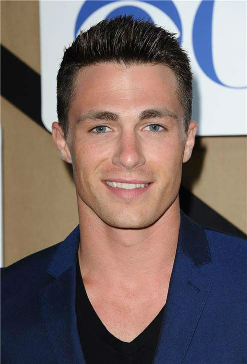 "<div class=""meta image-caption""><div class=""origin-logo origin-image ""><span></span></div><span class=""caption-text"">Colton Haynes, star of the CW show 'Arrow,' flashes a smile for photographers at the CBS, CW and Showtime TCA event in Beverly Hills, California on July 29, 2013. (Sara De Boer/startraksphoto.com)</span></div>"
