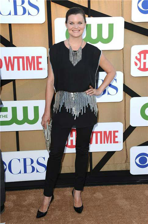 Heather Tom, star of the CBS soap opera &#39;The Bold and the Beautiful,&#39; posed in an embellished black top at the CBS, CW and Showtime TCA event in Beverly Hills, California on July 29, 2013. <span class=meta>(Sara De Boer&#47;startraksphoto.com)</span>