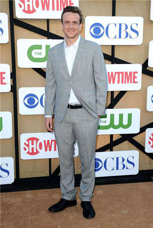 "<div class=""meta image-caption""><div class=""origin-logo origin-image ""><span></span></div><span class=""caption-text"">Jason Segel, star of the CBS show 'How I Met Your Mother,' rocked a gray suit at the CBS, CW and Showtime TCA event in Beverly Hills, California on July 29, 2013. (Sara De Boer/startraksphoto.com)</span></div>"