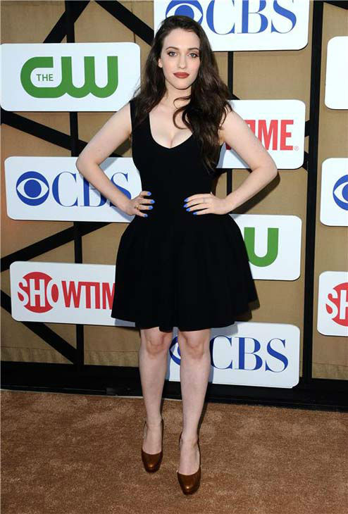 Kat Dennings, star of the CBS show &#39;2 Broke Girls,&#39; rocks a little black dress at the CBS, CW and Showtime TCA event in Beverly Hills, California on July 29, 2013. <span class=meta>(Sara De Boer&#47;startraksphoto.com)</span>