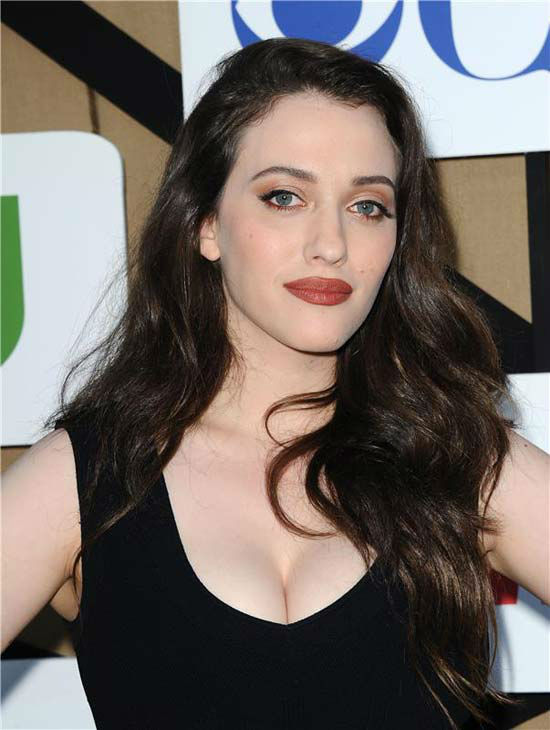 "<div class=""meta ""><span class=""caption-text "">Kat Dennings, star of the CBS show '2 Broke Girls,' poses for photographers at the CBS, CW and Showtime TCA event in Beverly Hills, California on July 29, 2013. (Sara De Boer/startraksphoto.com)</span></div>"