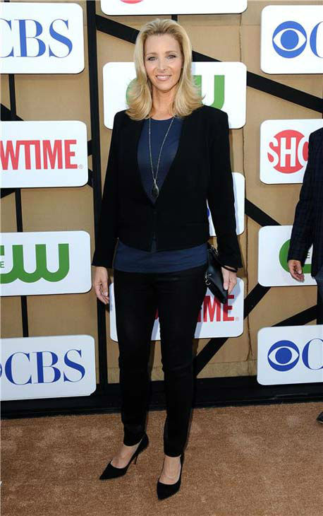 Lisa Kudrow, star of the Showtime series &#39;Web Therapy,&#39; wore a black pant suit at the CBS, CW and Showtime TCA event in Beverly Hills, California on July 29, 2013. <span class=meta>(Sara De Boer&#47;startraksphoto.com)</span>