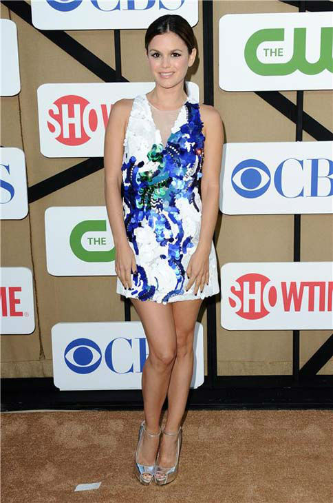 Rachel Bilson, star of the CW show &#39;Hart of Dixie,&#39; wore a white and blue-sequined mini dress at the CBS, CW and Showtime TCA event in Beverly Hills, California on July 29, 2013. <span class=meta>(Sara De Boer&#47;startraksphoto.com)</span>