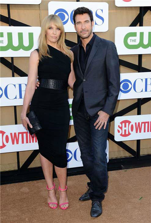 "<div class=""meta ""><span class=""caption-text "">Toni Collette and Dylan McDermott, costars in the upcoming CBS show 'Hostages,' pose together on the tan carpet at the CBS, CW and Showtime TCA event in Beverly Hills, California on July 29, 2013. (Sara De Boer/startraksphoto.com)</span></div>"