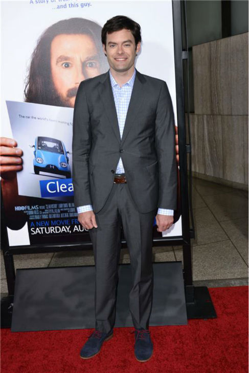 Bill Hader attends the premiere of the HBO film 'Clear History' at the Cinerama Dome in Hollywood, California on July 31, 2013.