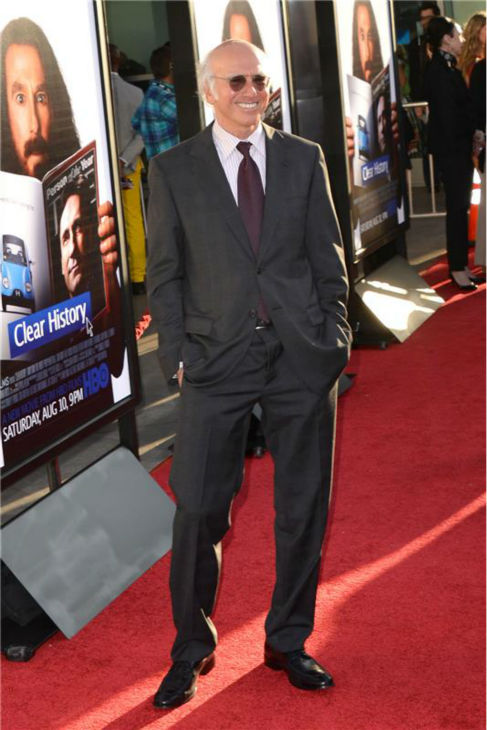 Larry David attends the premiere of the HBO film &#39;Clear History&#39; at the Cinerama Dome in Hollywood, California on July 31, 2013. <span class=meta>(Tony DiMaio &#47; startraksphoto.com)</span>