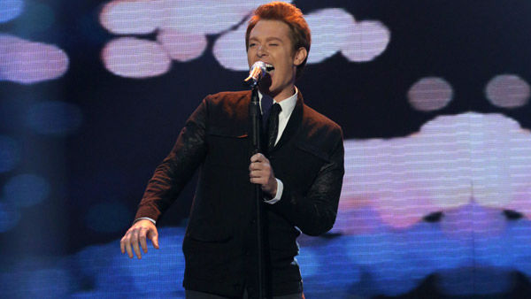 Clay Aiken performing during the April 18, 2013 episode of season 12 of 'American Idol.'
