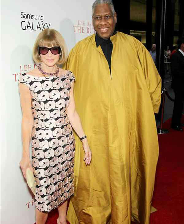Vogue Editor-In-Chief Anna Wintour and Vogue Contributing Editor Andre Leon Talley walk the red carpet at the New York premiere of 'Lee Daniels' The Butler' on Aug. 5, 2013.