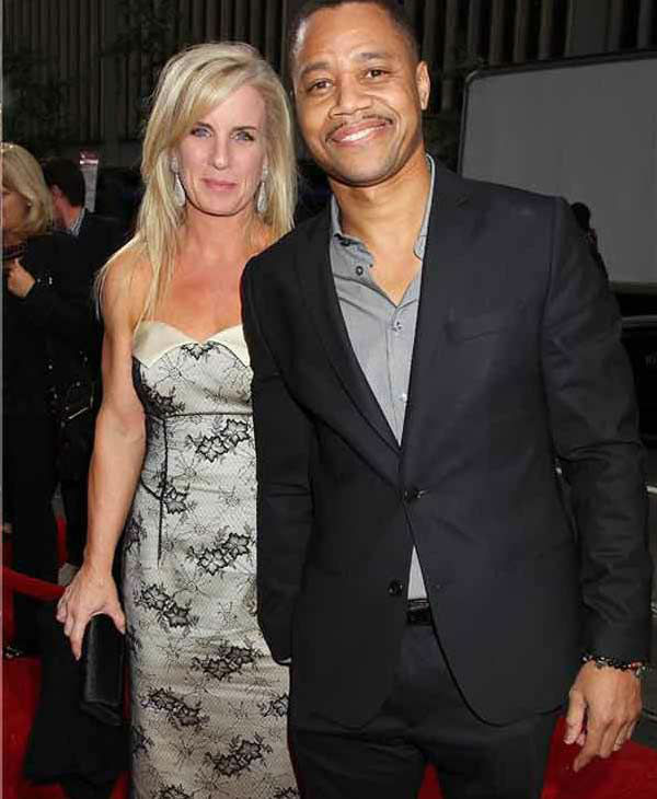 Cuba Gooding Jr. and wife Sara Kapfer step out together at the New York premiere of 'Lee Daniels' The Butler' on Aug. 5, 2013.