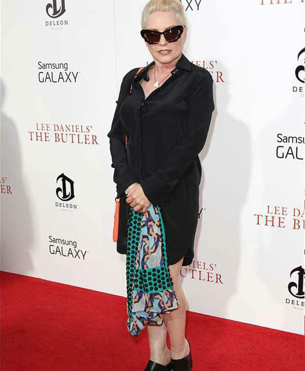 Singer Deborah Harry walks the red carpet at the New York premiere of 'Lee Daniels' The Butler' on Aug. 5, 2013.