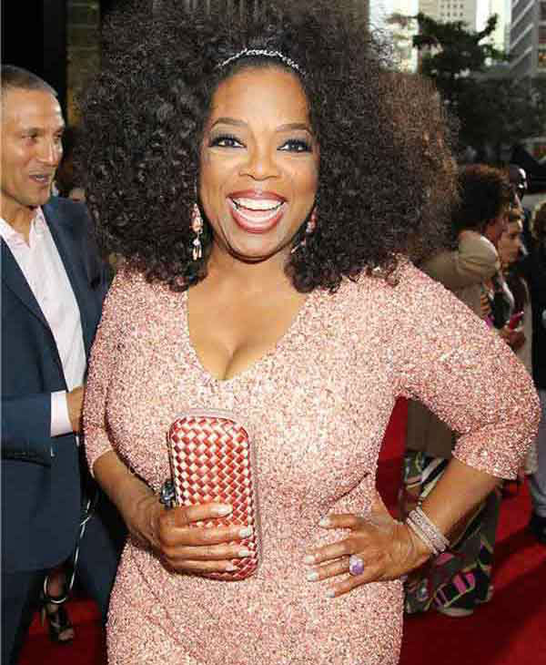 Oprah Winfrey rocks a sequined dress at the New York premiere of 'Lee Daniels' The Butler' on Aug. 5, 2013.