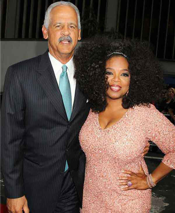 Oprah Winfrey and Stedman Graham pose together for photographers at the New York premiere of 'Lee Daniels' The Butler' on Aug. 5, 2013.