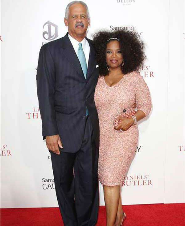 "<div class=""meta ""><span class=""caption-text "">Oprah Winfrey and Stedman Graham make a rare red carpet appearance together at the New York premiere of 'Lee Daniels' The Butler' on Aug. 5, 2013. (Kristina Bumphrey/ startraksphoto.com)</span></div>"