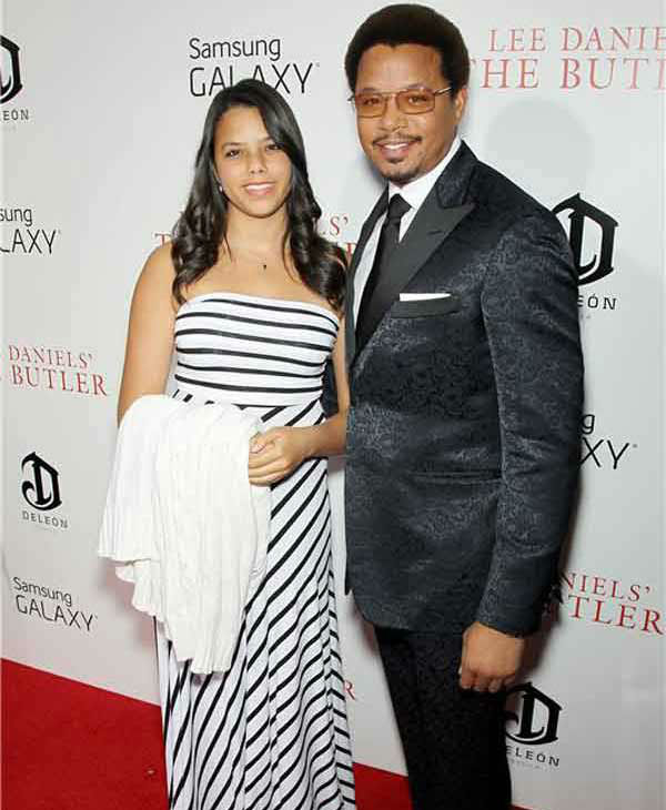 Terrence Howard and daughter Heavenly Howard walk the red carpet together at the New York premiere of 'Lee Daniels' The Butler' on Aug. 5, 2013.