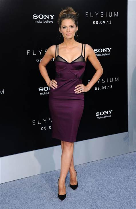 "<div class=""meta ""><span class=""caption-text "">Stana Katic appears at the 'Elysium' premiere in Los Angeles, California on Aug. 7, 2013. (Sara De Boer / startraksphoto.com)</span></div>"