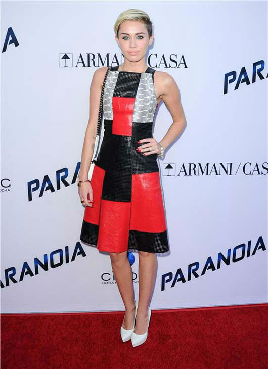 Miley Cyrus appears at the &#39;Paranoia&#39; premiere in Los Angeles, California on Aug. 8, 2013.  <span class=meta>(Sara De Boer &#47; startraksphoto.com)</span>