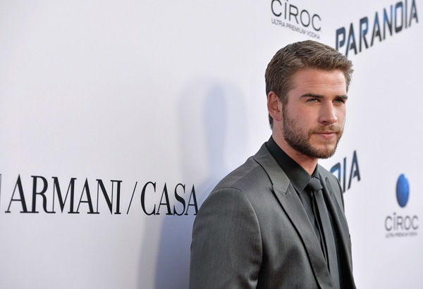 Liam Hemsworth attends the premiere of 'Paranoia' at DGA Theater on Aug. 8, 2013 in Los Angeles, California.