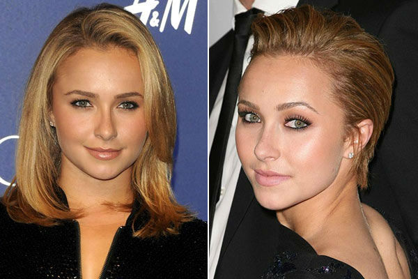 Hayden Panettiere appears at Jimmy Choo For HM Collection on Nov. 2, 2009. / Right: Hayden Panettiere appears at the Global Home Tree Event Celebrating 40th Anni