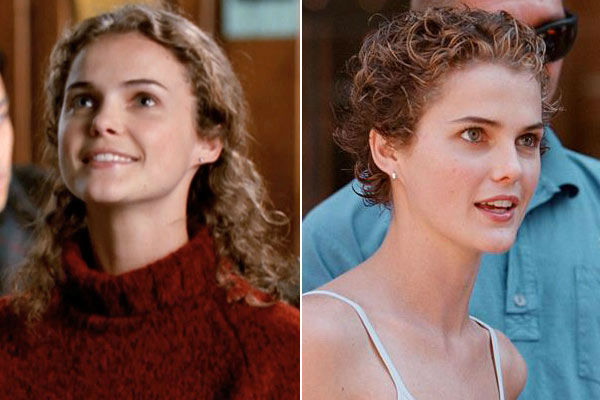 Left: Keri Russell appears in a scene from the first season of &#39;Felicity.&#39; &#47; Right: Keri Russell taking some time off from the set of &#39;Felicity&#39; to do some shopping in New York City on Sept. 11, 1999.  <span class=meta>(Touchstone Television &#47; Startraks)</span>