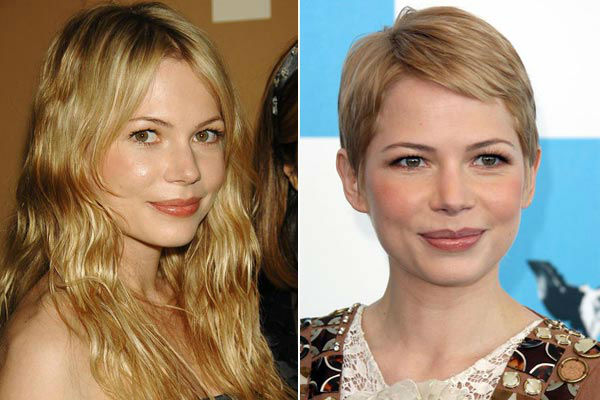 Left: Michelle Williams appears at the Whitney Gala Celebrating Picasso and American Art in New York City, New York on Oct. 24, 2006. / Michelle Williams appears at the 22nd Annual Spirit Awards on Feb. 24, 2007.