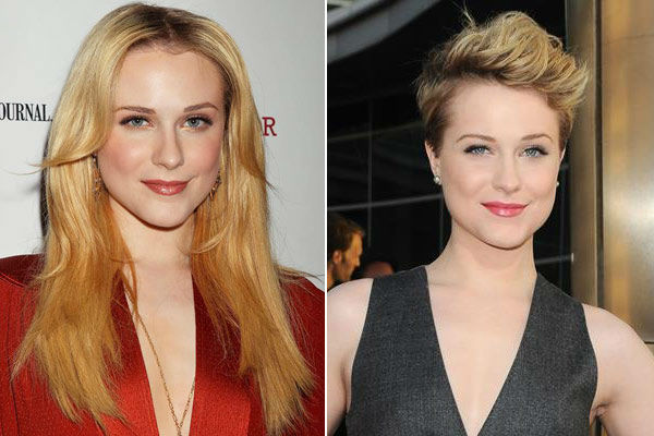 Left: Evan Rachel Wood appears at the New York premiere of 'The Conspirator' on April 11, 2011. / Right: Evan Rachel Wood appears at the 'True Blood' season four premiere on June 21, 2011.